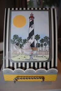 Finished lighthouse matchbook notepad