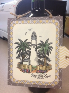 PSX Key West lighthouse rubber stamp