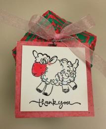 Thank ewe; baby shower favor