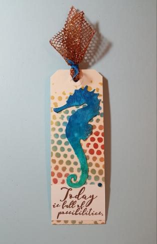 bookmark, seahorse